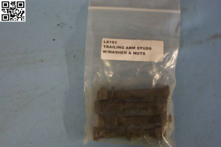 1965-1982 Corvette C2 C3,Trailing Arm Studs W/Washers & Nuts,New